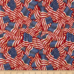 American Pride Wavy Flag Antique Fabric