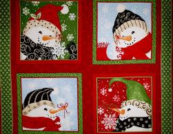 Seasons Greetings Imagine Red Snowman 36 In. Panel