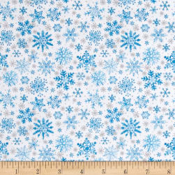 Seasons Greetings Snow Blue