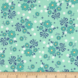 Riley Blake Calico Days Main Floral Mint Fabric