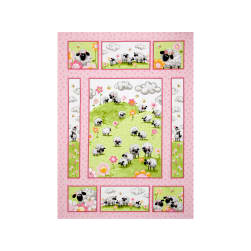 Susybee Lal The Lamb Lal Quilt 36 In. Panel Pink