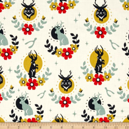 Birch Organics Tall Tales Jackalope Cream Fabric
