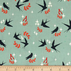 Birch Organics Tall Tales Swallows Mineral Fabric