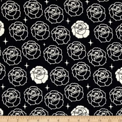 Birch Organics Tall Tales Stamped Rose Dusk Fabric