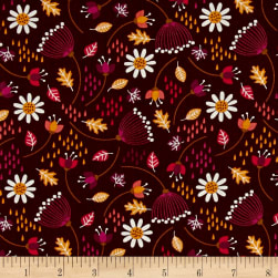 Camelot Enchanted Seed Pods Bordeaux Fabric