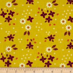 Camelot Enchanted Meadow Turmeric Fabric