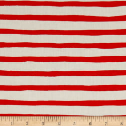 Birch Organic Saltwater Sailor Stripe Orange Fabric