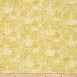 Bali Batiks Handpaints Dotty Circle Key Lemon Lime
