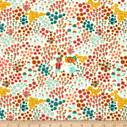 Birch Organic Hidden Garden Meadow Frolic Cream Fabric