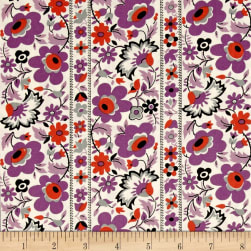 Denyse Schmidt Eastham Floral Stripe Thistle Fabric