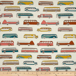 Birch Organic Trans Pacific Retro Bus Cream/Multi Fabric
