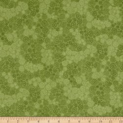 Essentials Flannel Sparkle Leaf Green