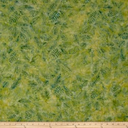 Island Batik Crystal Cove Leaf Vein Celery/Green Fabric