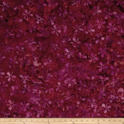 Island Batik Lavish Seeds & Dots Purple/Red/Orng Fabric