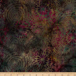 Island Batik Hollywood Hills Mixed Mums Redwood/Plum