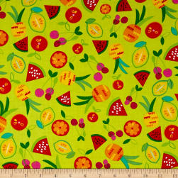 Kanvas Viva Brazil Passion Fruit Lime Fabric