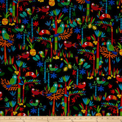 Kanvas Viva Brazil Birds Of Paradise Black Fabric