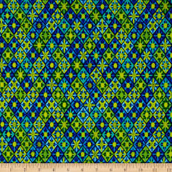Kanvas Viva Brazil Sunsetter Blue/Green Fabric