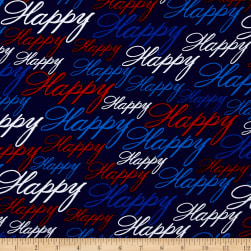 Kanvas All American Happy Blue Fabric