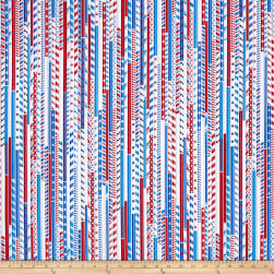Kanvas All American Drawing Straws White Fabric