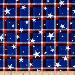 Kanvas All American Plaid Blue Fabric