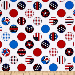Kanvas All American Dot White Fabric
