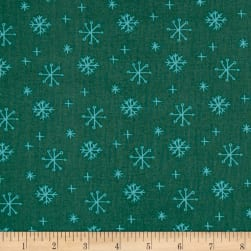25 Days of Christmas Snowflakes Light Forest Fabric