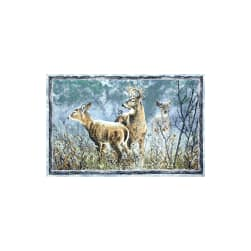 Winter Whispers Deer 29 In. Panel Multi Fabric