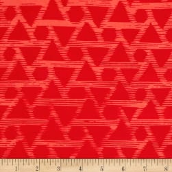 Indah Batiks Triangle Cherry Fabric