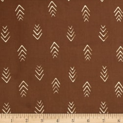 Indah Batiks Herringbone Coffee Fabric
