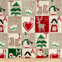 Craft Paper Christmas Blocks Multi Fabric