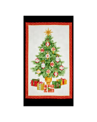 Christmas Elegance 24 In. Panel Cream/Panel Fabric