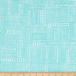 Blush & Blooms Dotted Patchwork Aqua Fabric
