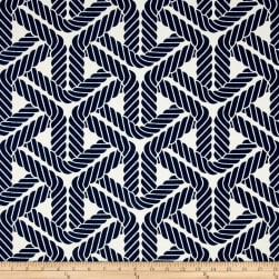 Waverly Sun N Shade Topsail Trellis Navy Fabric