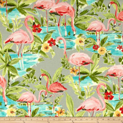 Waverly Sun N Shade Flamingoing Platinum Outdoor Fabric