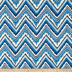 Dena Designs Indoor/Outdoor Chevron Charade Sapphire Fabric