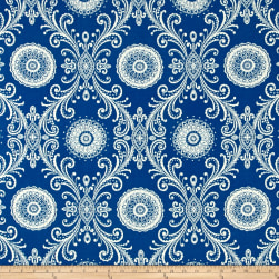 Waverly Sun N Shade Reflective Indigo Outdoor Fabric