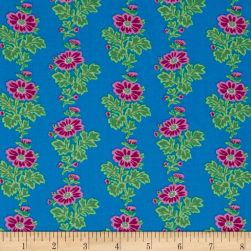 Classic Floral Dorchester Twilight Fabric