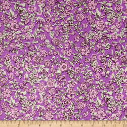 Riley Blake Ivy Mae Josephine Purple Fabric