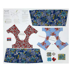 Riley Blake Ivy Mae 36 In. Panel Blue