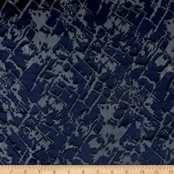 Telio Rayon/Silk Nuance Burnout Navy Fabric