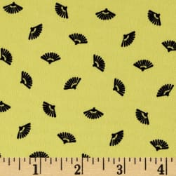 Telio Robin Crepe Fan Print Yellow