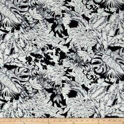 Telio Colorado Crepe de Chine Floral Black/Ecru Fabric