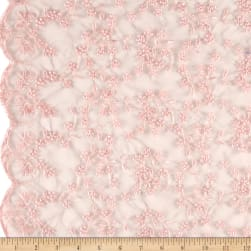 Telio Daisy Embroidery Pink Fabric