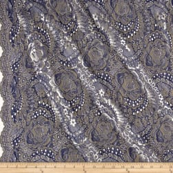 Telio Kala Lace Navy/Gold Fabric