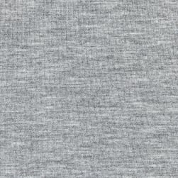 Telio Microbrushed Ponte Knit Light Grey Melange Fabric