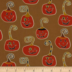 Cheeky Wee Pumpkins Taupe Fabric