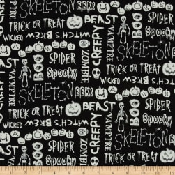 The Boo Crew Glow In The Dark Halloween Words Black With White