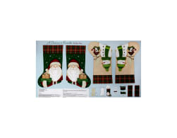 A Christmas To Remember Stocking 24 In. Panel Light Blue