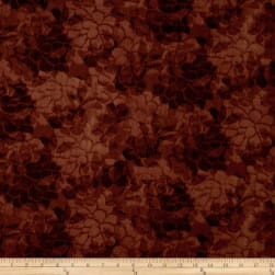 "108"" Wide Charisse Quilt Back Tonal Floral Brown"